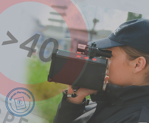 Sanctions, risques et amende suite à un excès de vitesse supérieur à 40 km/h