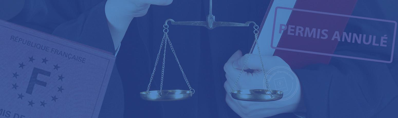 L'annulation de permis de conduire judiciaire
