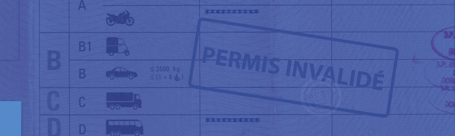 L'invalidation du permis de conduire pour solde de points nul